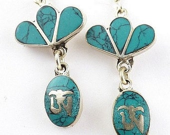 Tibetan jewelry ethnic EARRINGS, nepal jewelry Tibetan jewelry, abn10