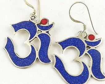 BUCKLES of ears Tibetan om, jewelry ethnic jewelry nepal Buddhist abn7.1