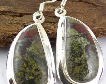 Blood stone Jasper stone pendant natural stone anchor energy grounding KB44.1