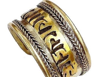 Ring ring jewelry, Tibetan Buddhist meditation chenrezi ref mantra recitation 3673