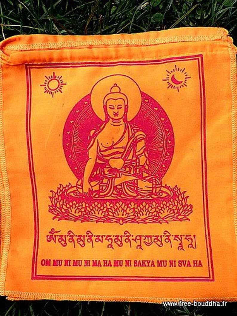 FLAGS Tibetan prayer mantra of Buddha, Buddha Sakyamuni Buddhist flags DRAT4