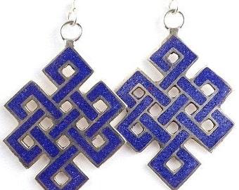 Tibetan jewelry EARRINGS traditional Buddhist Om nepal ethnic jewelry Buddhist abn2