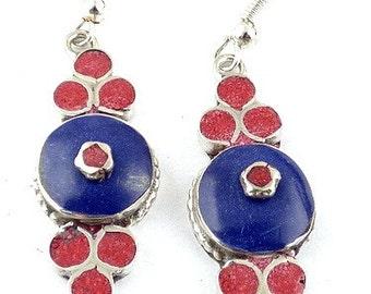 Tibetan jewelry EARRINGS traditional eyes of Buddha, ethnic jewelry nepal jewelry Buddhist abn11.2