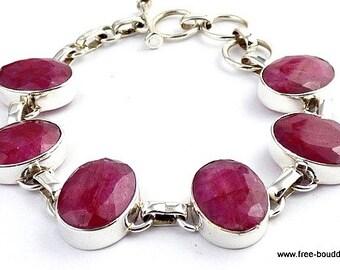 Indian BRACELET in Ruby, Ruby, Ruby bracelet, gemstone bracelet jewelry natural da25.1