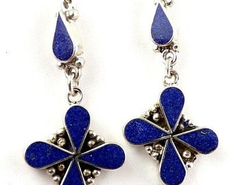 Flower ethnic jewelry, nepal jewelry Tibetan jewelry, Tibetan EARRINGS abn12.1