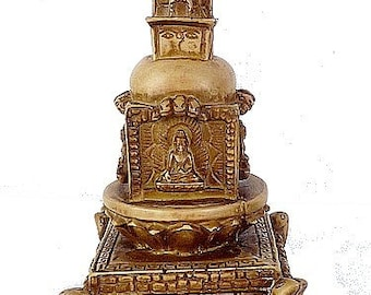 STATUE Buddhist STUPA wheel meditation tibet ref STUPAN3 Buddha dharma