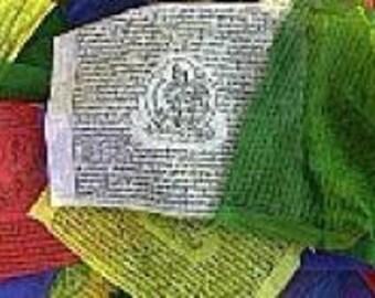 Tibetan prayer flags lungta flags 25-12 tibetan Buddhist x 18 cm 5.2 m meditation ritual Buddhist ref dramm