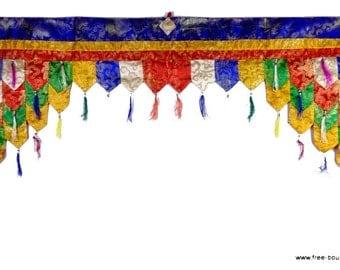 TOP of door decoration Tibetan Buddhist meditation pan3 temple door
