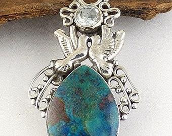 Jewelry SHATTUCKITE, Angels, shattuckite pendant jewelry, shattuckit pendant, shattuckit jewels, natural stone jewelry, aje2.10