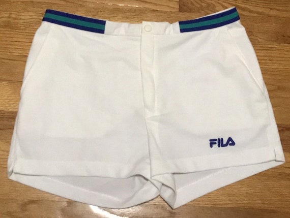 Vintage FILA Tennis Shorts with Green and Blue Wai