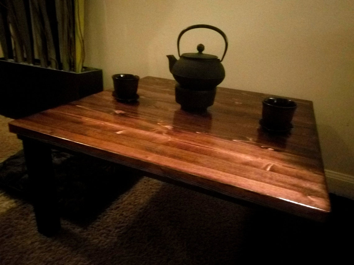 """Chabudai Tea Table -  24""""x24"""" -several finishes available- **Please read item details below**"""