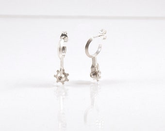 Parts Of The Machine: Rin. Earstuds. Sterling Silver.