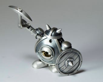 Diggybot. Action figure. Sterling silver.