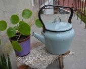 Vintage Soviet kettle - Large USSR Teapot - Enamel Kettle - Retro kitchen decor - Enamelware - Soviet era - Farmhouse - Rustic home decor