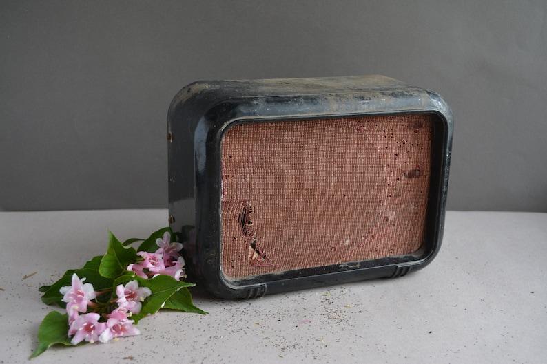 Retro wood radio Collectibles radio Soviet radio speaker Art deco decor. Soviet radio Passive speaker case