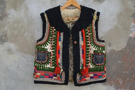 Antique Ukrainian vest - Traditional Ukrainian sle