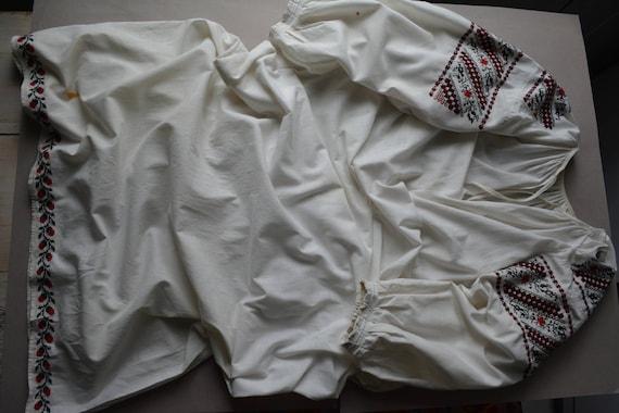 Womens shirt Ukrainian embroidered shirt folk Vyshyvanka Vintage Embroidered dress shirt embroidered Handmade t41IqUTw