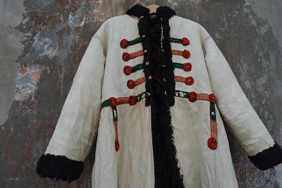 Peasant outer garment. Old traditional clothing Ukrainian folk costume kaftan Vintage fall winter coat Man/'s and woman/'s rustic coat