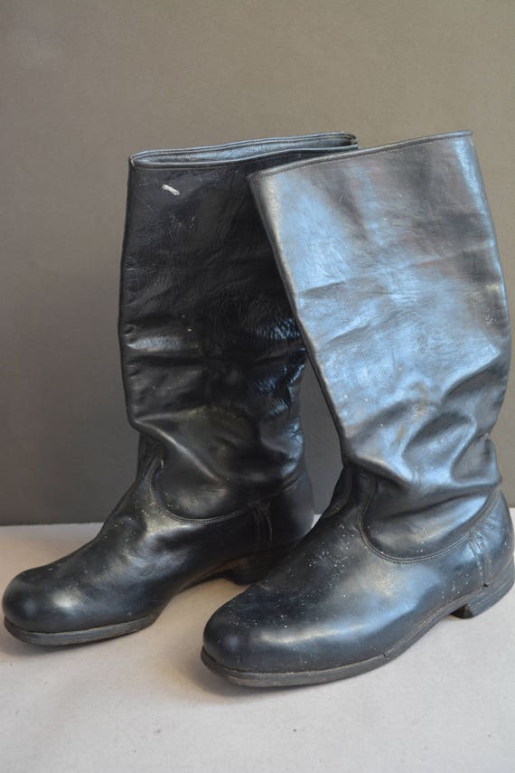 bottes Cuir bottes noir antique ann des tq8EtrwUx