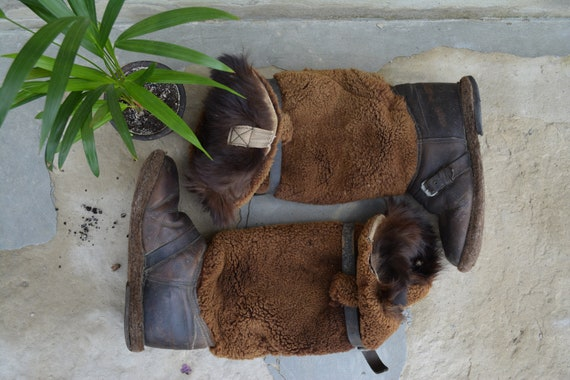 Antique genuine fur boots - Winter boots - Boots o