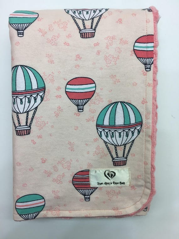 BABY BOY //GIRL SUPER SOFT BLANKETS WITH HOT AIR BALLOON PATTERN