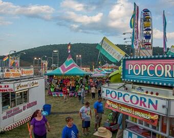 Photographic art print. County Fair upstate PA