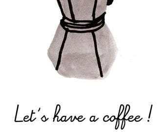 Let's have coffee! - Postcard A6