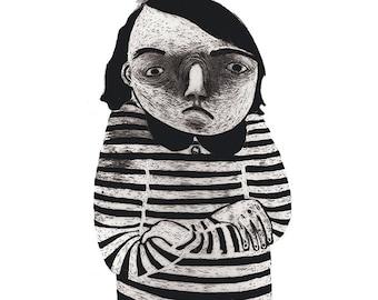 Angry Girl Postcard A6