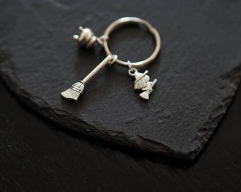 witchcraft Keychain, Witchy Keychain, Halloween Keychain, Halloween Keyring, Gothic Gifts, Witch Keychain, Witch Keyring, Witchy Gifts