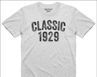 90th Birthday Gift Tshirt Classic 1929 Shirt Distressed Design Weathered Look