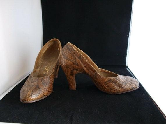 1940s Snakeskin Vintage shoes - image 1