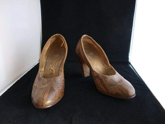 1940s Snakeskin Vintage shoes - image 2