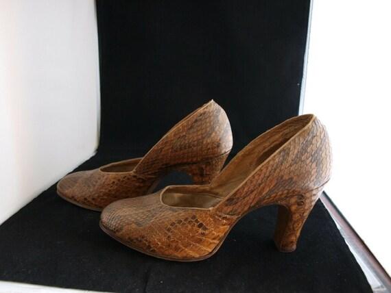 1940s Snakeskin Vintage shoes - image 3
