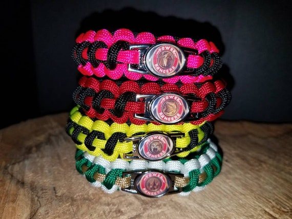 1 - Shattered Grid Mighty Morphin Power Ranger 550 paracord bracelet MMPR