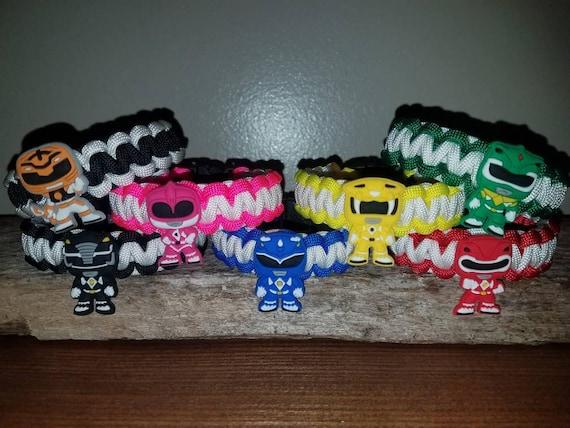 All 7 - Mighty Morphin Power Ranger 550 paracord bracelet MMPR