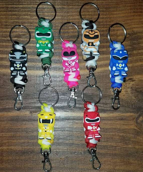 1 - Mighty Morphin Power Ranger 550 paracord keychain MMPR