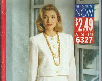 Vintage Sewing Pattern - Butterick See & Sew #6327, Size A (6-14)