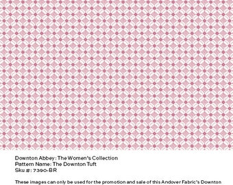 Downton Abbey Fabric - The Downton Tuft in Rose