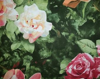 Roses & Magnolias Cotton Fabric