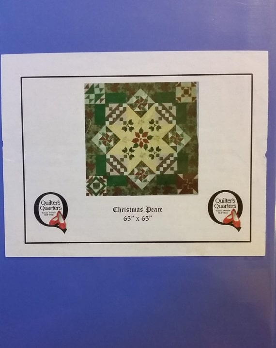 Christmas Peace Block Of The Month Pattern Shop Copy Etsy