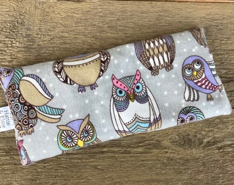 Eye Pillow Lavender Rice / Sleep Eye Mask / Heat Cold Therapy / Migraine Sinus Insomnia Relief / Gift for her / Gift for Mom