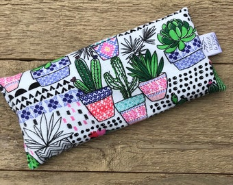 Eye Pillow Lavender Rice / Eye Mask / Heat Cold Therapy / Migraine Sinus Relief / Bridesmaid gift / Gift for her / Mother's Day Gift