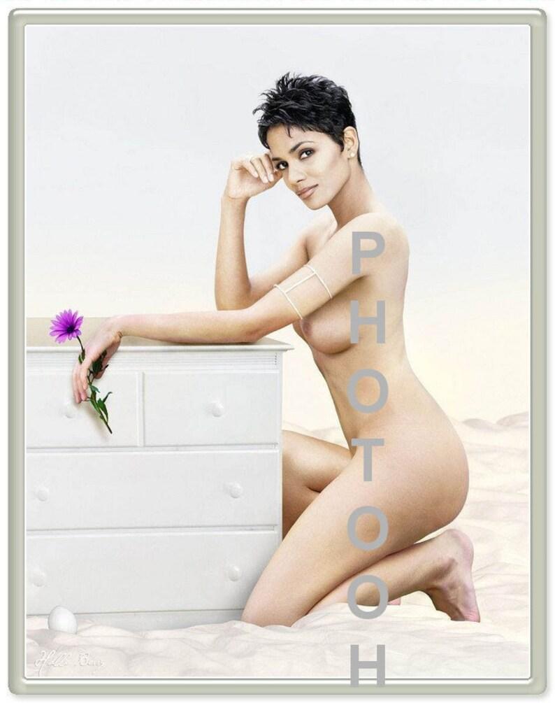 MATURE: HALLE BERRY Fine Art Celebrity Fantasy Parody Sexy image 0