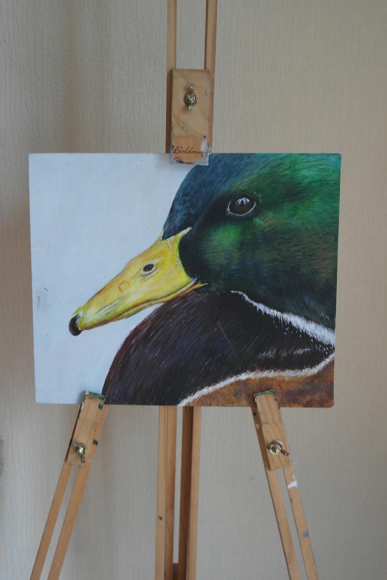 Mallard Original Painting  Acrylic on 10 x 12 inch Canvas image 0