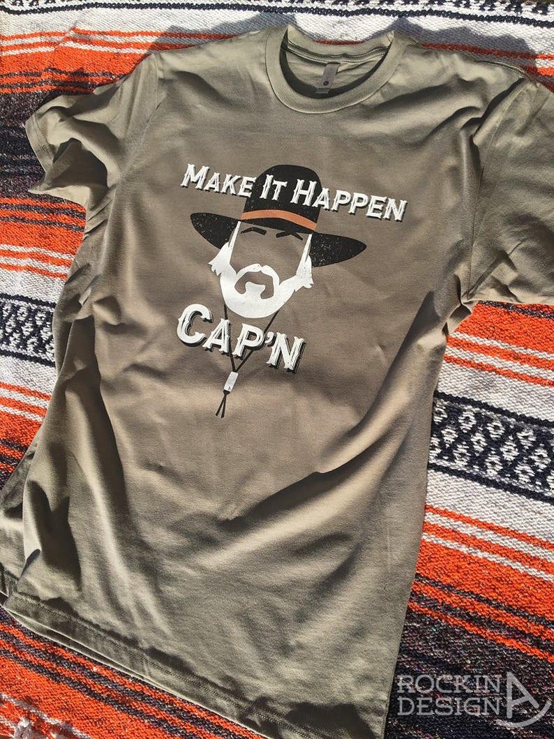 90a956bb Make It Happen Cap'n / graphic tee t-shirt / cowboy /   Etsy