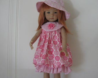 Pink Bubble dress & hat for Effner