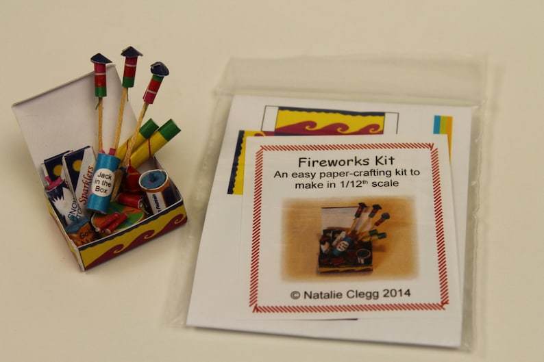 1/12th Scale Miniature Fireworks Kit image 0