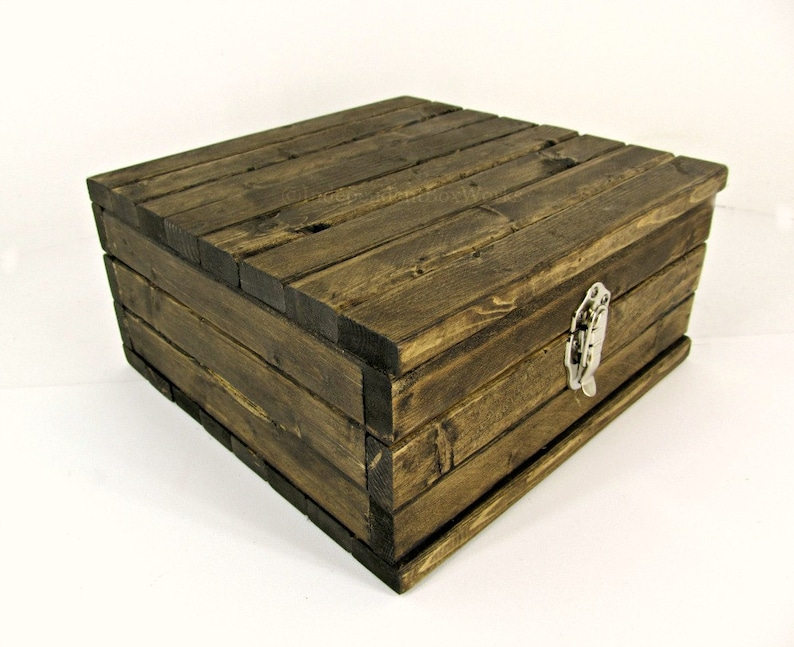 Rustic Memory Box Small Keepsake Chest Wooden Storage Case Baptism Gift Box Wood Box With Lid Wooden Trinket Box Letter Storage Box