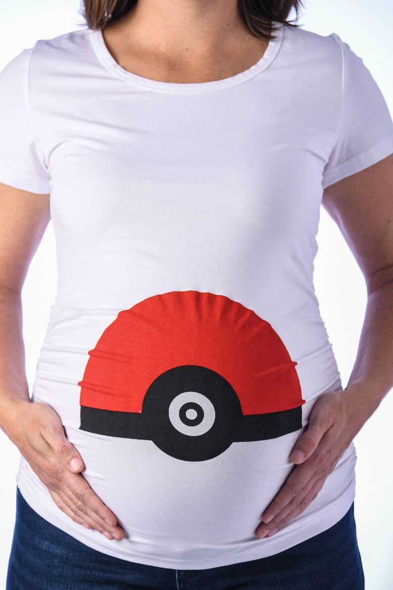 0f1525de Pokeball Maternity Shirt Funny Maternity Shirt Pokemon | Etsy