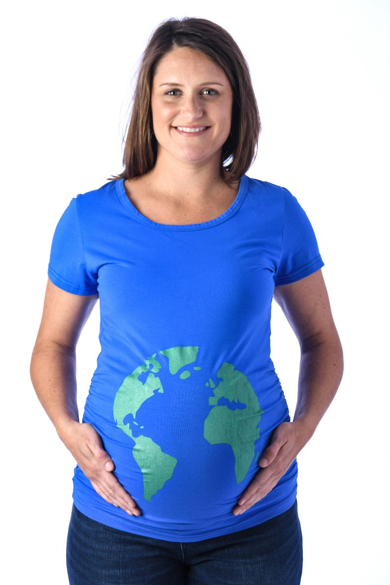 21e46e48 Globe Maternity Shirt Funny Maternity Tee Mother Earth | Etsy